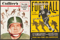 Football Collectibles:Publications, 1943 and 1952 Football Magazines Lot of 2....