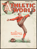 """Football Collectibles:Publications, 1923 """"The Athletic World"""" Magazine, With Jim Thorpe Article...."""