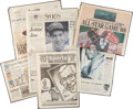 Baseball Collectibles:Others, Baseball Greats Signed Newspapers Lot of 6 - With Mantle, DiMaggioetc....