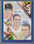 Baseball Collectibles:Others, Baseball Greats Signed Prints Lot of 11....