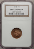 Proof Indian Cents: , 1878 1C PR64 Red Cameo NGC. NGC Census: (3/10). PCGS Population (4/12). (#82323)...