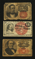 Fractional Currency:Fifth Issue, Three Fractional Denominations.. ... (Total: 3 notes)