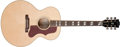 Musical Instruments:Acoustic Guitars, 2010 Gibson J-185 Natural Acoustic Guitar, #13100031. ...
