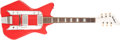 Musical Instruments:Electric Guitars, 1960s Airline Red Solid Body Electric Guitar, #G18533....