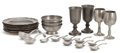 Paintings, The Collection of Paul Gregory and Janet Gaynor. A GROUP OF TWENTY-NINE PEWTER FLATWARE AND HOLLOWWARE PIECES . Makers... (Total: 29 Items)