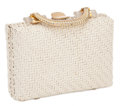 Jewelry, THE COLLECTION OF PAUL GREGORY AND JANET GAYNOR. JANET GAYNOR'S ITALIAN WHITE WICKER STRAW WOVEN PURSE . Rodo, Italy, circ...
