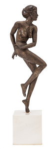 Bronze:Contemporary, THE COLLECTION OF PAUL GREGORY AND JANET GAYNOR. TOMAS F.CONCEPCION (Filipino, b. 1933). Female Dancer, 1976. Cas...