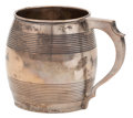 Silver Holloware, British:Holloware, THE COLLECTION OF PAUL GREGORY AND JANET GAYNOR. AN ENGLISHSILVER MUG WITH HANDLE . Crispin Puller, London, England, ...