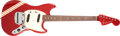 Musical Instruments:Electric Guitars, 1969 Fender Competition Mustang Candy Apple Red Electric Guitar, #288567. ...