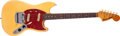 Musical Instruments:Electric Guitars, 1966 Fender Mustang Olympic White Solid Body Electric Guitar,#186030. ...