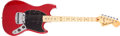 Musical Instruments:Electric Guitars, 1978 Fender Mustang Translucent Red Solid Body Electric Guitar, #S827513. ...