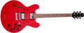 Musical Instruments:Electric Guitars, 1995 Heritage H-535 Transparent Cherry Semi-Hollow Electric Guitar,#L31404. ...