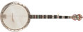 Musical Instruments:Banjos, Mandolins, & Ukes, Modern Gretsch Era Bacon Symphonie Silver Bell Pearloid 5-String Banjo, #4977. ...