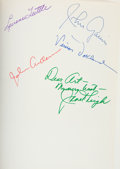 Movie/TV Memorabilia:Autographs and Signed Items, Janet Leigh and Others Psycho Cast-Signed Book....