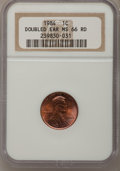 Lincoln Cents, 1984 1C MS66 Red NGC. Doubled Ear. NGC Census: (96/108). PCGSPopulation (129/250). Numismedia Wsl. Price for problem free...