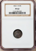 Proof Seated Half Dimes: , 1865 H10C PR62 NGC. NGC Census: (11/107). PCGS Population (23/126).Mintage: 500. Numismedia Wsl. Price for problem free NG...