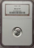 Roosevelt Dimes: , 1964 10C MS67 Full Bands NGC. NGC Census: (28/0). PCGS Population (17/0). Mintage: 929,299,968. (#85128). From The Dr. W...