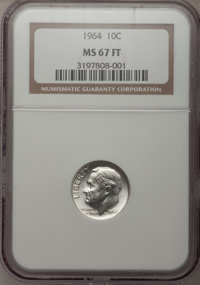 1964 10C MS67 Full Bands NGC. NGC Census: (28/0). PCGS Population (17/0). Mintage: 929,299,968. (#85128) From The Dr. W...