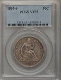 Seated Half Dollars: , 1865-S 50C VF35 PCGS. PCGS Population (6/58). NGC Census: (0/45).Mintage: 675,000. Numismedia Wsl. Price for problem free ...