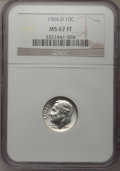 1964-D 10C MS67 Full Bands NGC. NGC Census: (20/0). PCGS Population (13/1). Mintage: 1,357,517,184. (#85129) From The D...