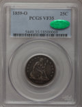 Seated Quarters: , 1859-O 25C VF35 PCGS. CAC. PCGS Population (3/37). NGC Census:(0/29). Mintage: 260,000. Numismedia Wsl. Price for problem ...