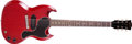 Musical Instruments:Electric Guitars, 1961 Gibson Les Paul Jr. Cherry Red Solid Body Electric Guitar,#26833. ...