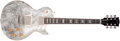 Musical Instruments:Electric Guitars, 1998 Gibson Les Paul Streak Silver Metallic Electric Guitar,#CS9504. ...