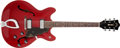 Musical Instruments:Electric Guitars, 1966 Guild Starfire IV Cherry Semi-Hollow Body Electric Guitar, #EL444....