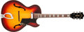 Musical Instruments:Electric Guitars, 1965 Guild CA-100 Special Sunburst Hollow Body Electric Guitar,#43778. ...