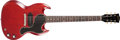 Musical Instruments:Electric Guitars, 1963 Gibson SG Les Paul Junior Cherry Red Solid Body ElectricGuitar, #100162. ...