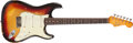 Musical Instruments:Electric Guitars, 1963 Fender Stratocaster Sunburst Solid Body Electric Guitar, #L11491. ...