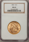 1882 $10 MS62 NGC. NGC Census: (3388/747). PCGS Population (1702/329). Mintage: 2,324,480. Numismedia Wsl. Price for pro...