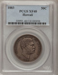 Coins of Hawaii: , 1883 50C Hawaii Half Dollar XF40 PCGS. PCGS Population (59/445).NGC Census: (20/307). Mintage: 700,000. (#10991)...