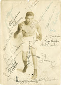 Boxing Collectibles:Autographs, Jack Dempsey Multi Signed Photograph....