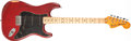 Musical Instruments:Electric Guitars, 1980 Fender Stratocaster Transparent Red Solid Body Electric Guitar, #S907545....