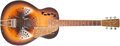 Musical Instruments:Resonator Guitars, Mid 1930s Dobro 32/35 Brown Sunburst Resophonic, No SerialNumber....