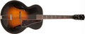 Musical Instruments:Acoustic Guitars, Early 1940s Gibson L-7 Sunburst Acoustic Archtop Guitar, #2555G....