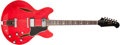Musical Instruments:Electric Guitars, 1966 Gibson Trini Lopez Cherry Semi-Hollow Body Electric Guitar,#806133. ...
