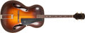 Musical Instruments:Acoustic Guitars, 1937 Epiphone Olympic Tenor Sunburst Acoustic Archtop Guitar,#10387. ...