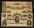 Confederate Notes:1864 Issues, Four Different 1864 Notes.. ... (Total: 4 notes)