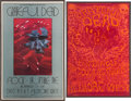 Music Memorabilia:Posters, Grateful Dead Fillmore West Concert Poster and Ticket Group (BillGraham, 1969).... (Total: 5 Items)