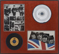 "Music Memorabilia:Recordings, Beatles ""Twist and Shout"" Stamper and 45 Single Framed Display(Tollie 9001, 1964)...."
