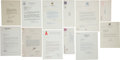 Autographs:Others, 1950's-80's Sports-Related Letters Written & Signed by FamousFigures Lot of 11....
