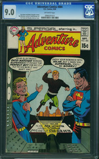 Adventure Comics #384 (DC, 1969) CGC VF/NM 9.0 Off-white pages