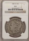 Morgan Dollars: , 1883-CC $1 Good 6 NGC. NGC Census: (6/15200). PCGS Population (4/32445). Mintage: 1,204,000. Numismedia Wsl. Price for prob...