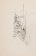 Original Comic Art:Miscellaneous, Edgar Church Christmas Illustration Preliminary SketchOriginal Art (undated)....