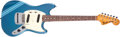 Musical Instruments:Electric Guitars, 1971 Fender Mustang Lake Placid Blue Solid Body Electric Guitar,#333978. ...