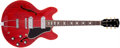 Musical Instruments:Electric Guitars, 1966 Gibson ES-330 Cherry Semi-Hollow Body Electric Guitar,#879252. ...