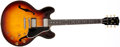 Musical Instruments:Electric Guitars, 1958 Gibson ES-335 Sunburst Semi-Hollow Body Electric Guitar, #A30516....