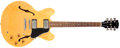 Musical Instruments:Electric Guitars, 1995 Gibson ES-335 DOT Natural Semi-Hollow Body Electric Guitar,#90205323....